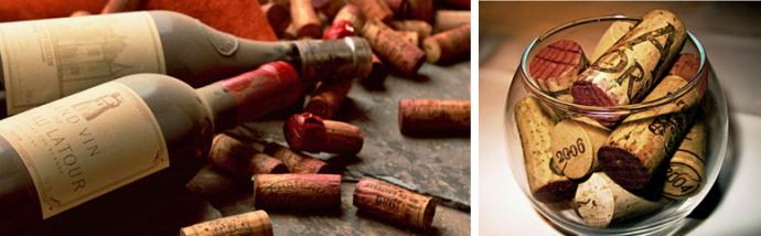 Марочные вина укупоривают натуральными пробками