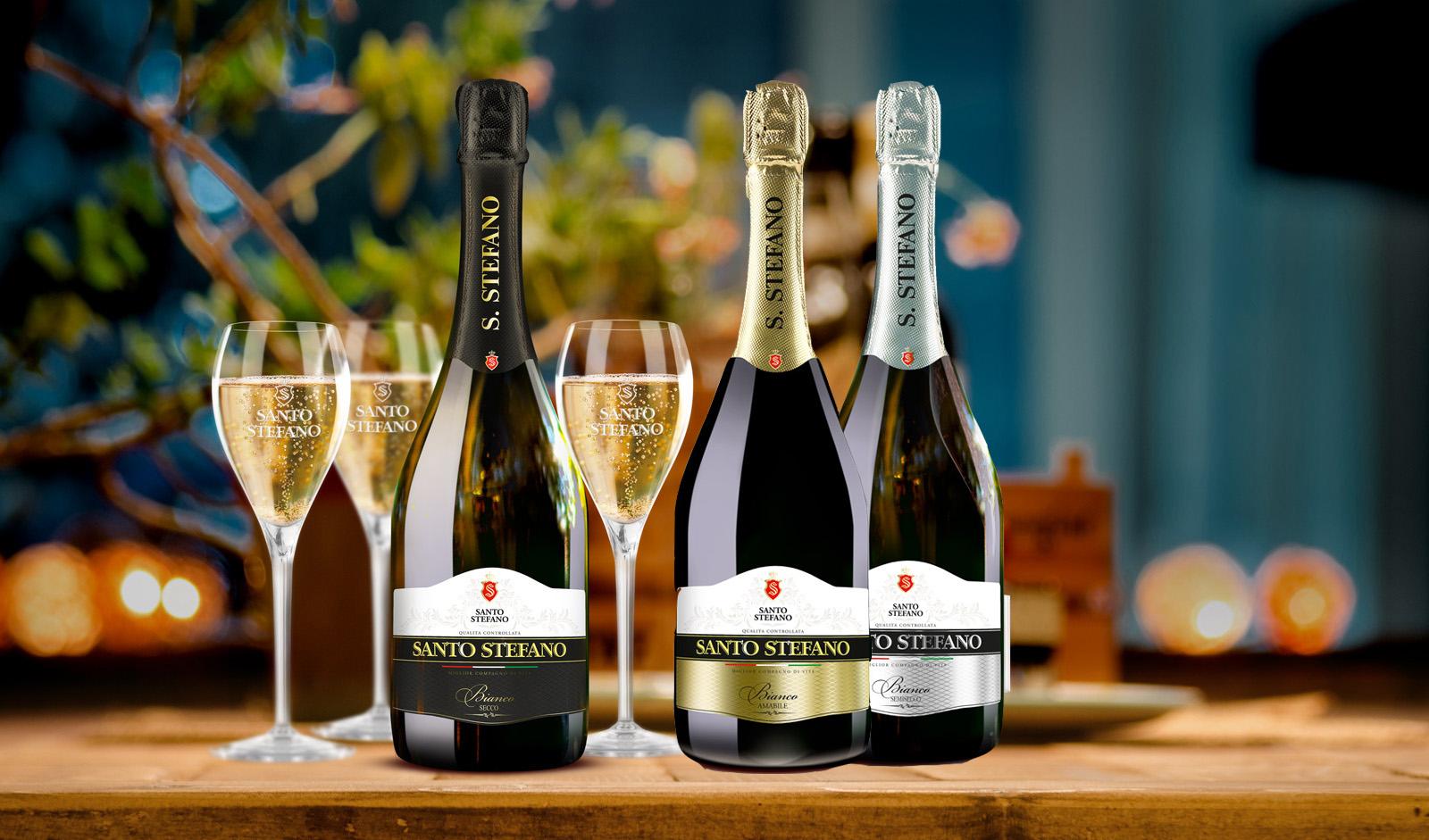 Виды шампанского санто стефано