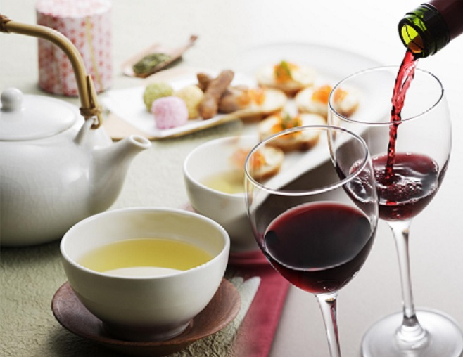 вино против чая