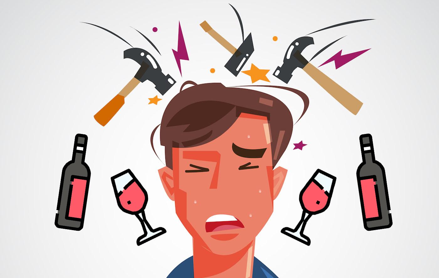 боль в голове после вина