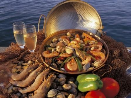 белое вино с морепродуктами