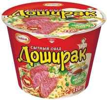 Лапша «Доширак Сытный обед с говядиной» 110 гр.