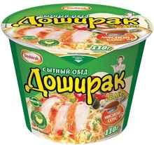 Лапша «Доширак Сытный обед со вкусом курицы» 110 гр.