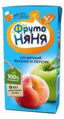Сок «Фруто Няня яблочно персик»
