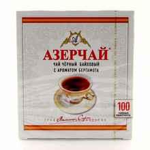 Чай пакетированный «Азерчай бергамот» 100 пакетиков