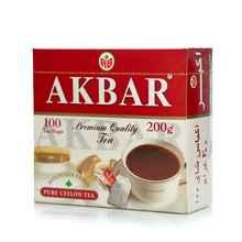 Чай пакетированный «Акбар чай чёрный» 100 пакетиков