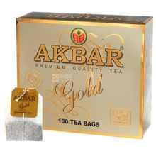 Чай пакетированный «Акбар золотой» 100 пакетиков