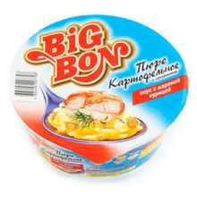 Пюре «Биг Бон с сухариками и куриным соусом» 60 гр.
