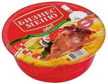Пюре «Бизнес Меню с говядиной в пряном соусе» 110 гр.