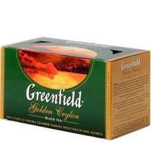 Чай пакетированный «Гринфилд Голден цейлон черный» 25 пакетиков
