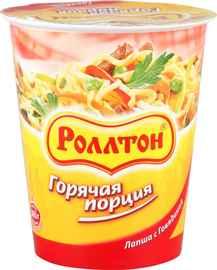Лапша «Ролтон Горячая Порция с говядиной» 65 гр.