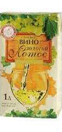 Вино столовое белое полусладкое «Золотой Лотос»