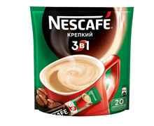 Кофе растворимый «Nescafe 3 в 1 Крепкий кофе растворимый» 20 гр.
