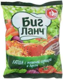 Лапша «Биг Ланч с тушеной курицей и луком» 75 гр.