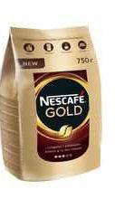 Кофе растворимый «Nescafe Gold» 750 гр.