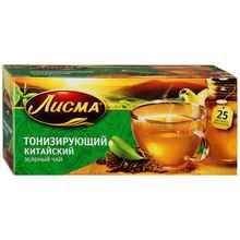 Чай пакетированный «Лисма тонизирующий зеленый» 25 пакетиков