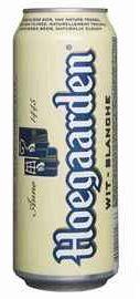 Пиво «Хугарден белое» в жестяной банке