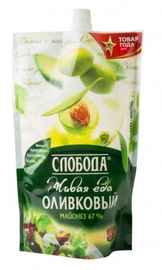 Соус «Майонез СЛОБОДА оливковый дой-пак» 230 гр.