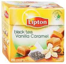 Чай пакетированный «Черный Lipton Vanilla Caramel» 20 пирамидок