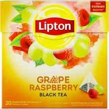Чай пакетированный «Чёрный Lipton Grape Raspberry» 20 пирамидок
