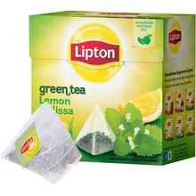 Чай пакетированный «Зеленый Lipton Lemon Melissa» 20 пирамидок