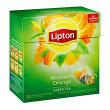 Чай пакетированный «Зеленый Lipton Mandarin Orange» 20 пирамидок