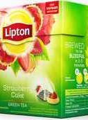 Чай пакетированный «Lipton зеленый Strawberry Cake» 20 пирамидок