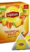 Чай пакетированный «Lipton черный Tropical Fruit » 20 пирамидок