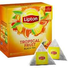 Чай пакетированный «Lipton черный Tropical Fruit» 20 пирамидок
