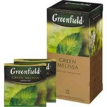 Чай пакетированный «Гринфилд Грин мелисса» 25 пакетиков