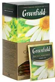 Чай пакетированный «Гринфилд Рич кемомайл» 25 пакетиков