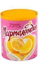 Мармелад «Мармеландия Лимон.дольки в пласт.банке)» 250 гр.