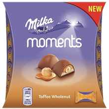 Конфеты «Milka Moments Toffee Wholenut» 97 гр.