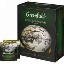Чай пакетированный «Гринфилд Эрл грей черный» 100 пакетиков