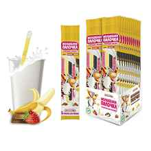 Трубочки для молока «Молшебная палочка Банан/клубника/шоколад» 30 гр.
