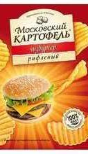Чипсы «Московский картофель чизбургер» 70 гр.