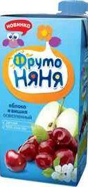 Сок «Фруто Няня яблоко и вишня»