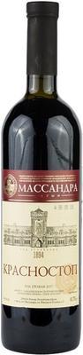 Вино красное сухое «Массандра Красностоп» вино с защищенным географическим указанием «Крым»