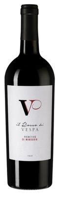 Вино красное полусухое «Il Rosso dei Vespa Primitivo di Manduria» 2018 г.