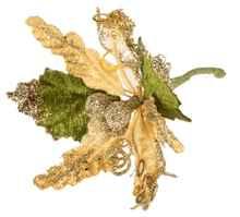 Декор «Stella di Natale» золотистый с ягодами