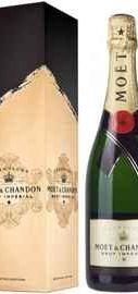 Шампанское белое брют «Moet & Chandon Brut Imperial» в подарочной коробке Сигниче