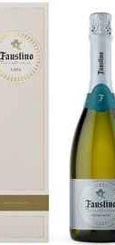 Вино игристое белое экстра сухое «Cava Faustino» в подарочной упаковке