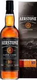 Виски шотландский «Aerstone Land Cask 10 Years Old» в подарочной упаковке