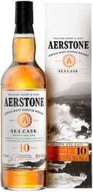 Виски шотландский «Aerstone Sea Cask 10 Years Old» в подарочной упаковке