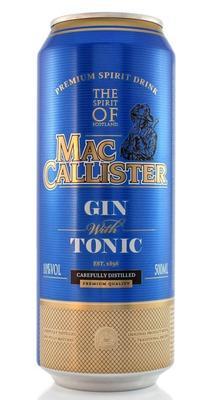 Коктейль винный газированный ароматизированный «Maccallister Gin Tonic» со вкусом джина и тоника