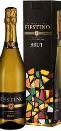 Вино игристое белое брют «Fiestino Brut» в подарочной упаковке