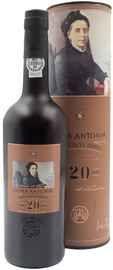 Вино ликерное красное сладкое «Donna Antonia Old Tawny Porto 20 years» в тубе