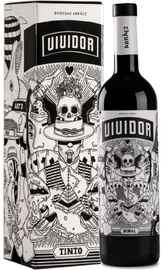 Вино красное сухое «Vividor» в подарочной упаковке