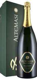 Вино игристое белое брют «Altemasi Millesimato Brut» 2016 г., в подарочной упаковке