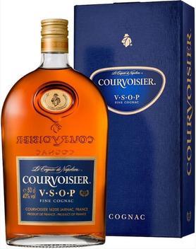 Коньяк французский «Courvoisier VSOP, 0.7 л» фляга, в подарочной упаковке